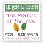 The Months of the Year Downloadable Album with Printables