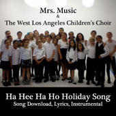 Ha Hee Ha Ho Holiday Song Downloadable Tracks with Lyrics