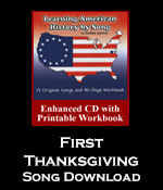 First Thanksgiving Song Download with Printables