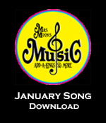 January Song Download Tracks with Printables
