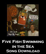 Five Fish Swimming In The Sea Song Download With Lyrics Songs For Teaching Educational
